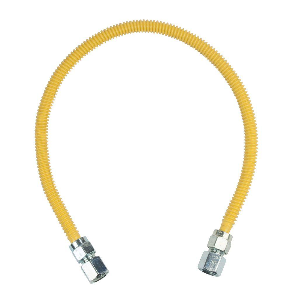 BrassCraft ProCoat 1/2 in. FIP x 1/2 in. FIP x 30 in. Stainless Steel Gas Connector 1/2 in. O.D. (77,100 BTU)