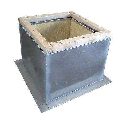 Roof Fan Curb 19-1/2 in. x 19-1/2 in. - 1-1/2 in. Insulation with Wood Nailer
