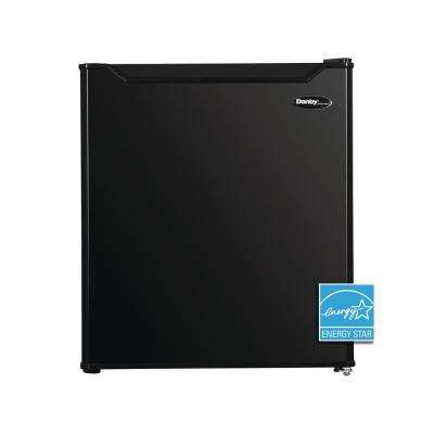 1.6 cu. ft Mini Fridge in Black without Freezer