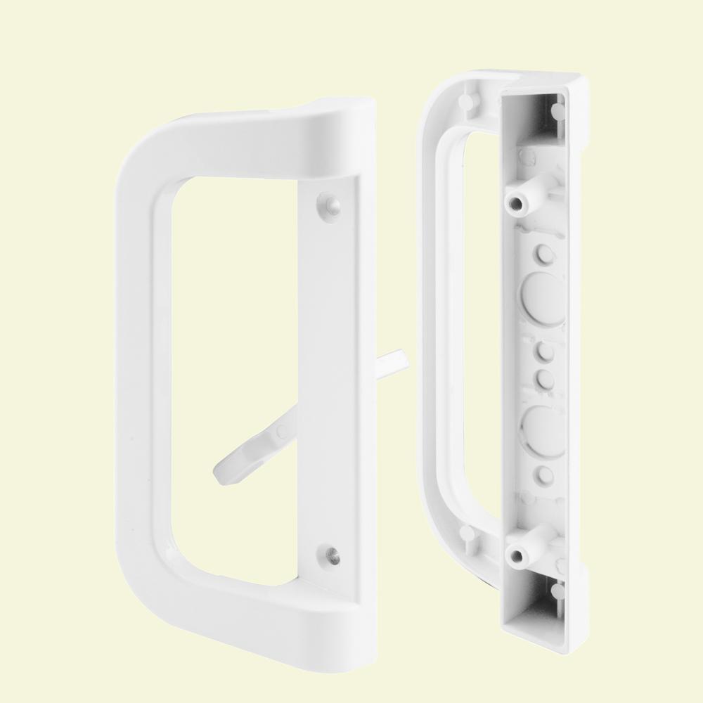 White Sliding Door Handle Set