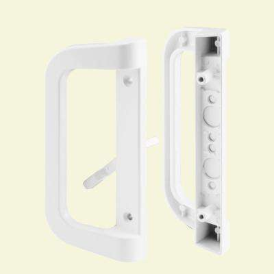 White Sliding Door Handle Set