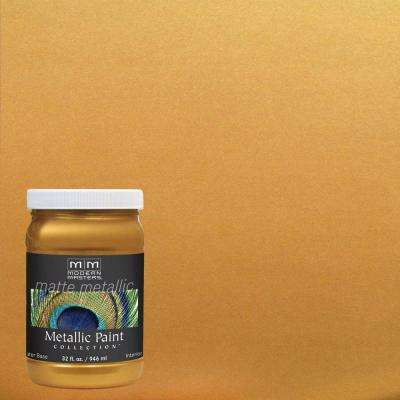 1 qt. Olympic Gold Matte Metallic Interior Paint