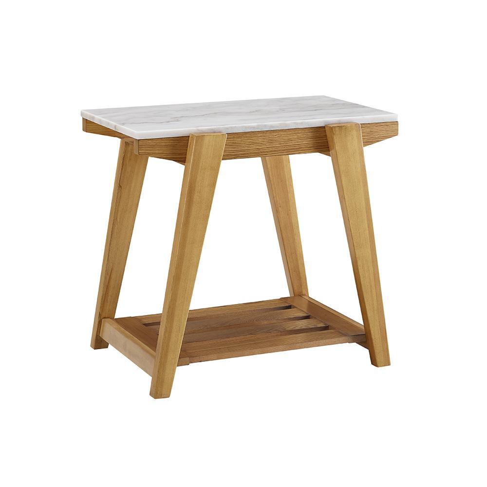 Steve Silver Celeste White Marble Top Chairside End Table Ce400ec