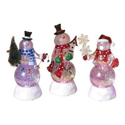 8.75 in. H Snowman Water Globes (Set of 3)