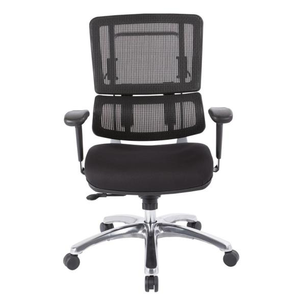 Office Star Products Black Mesh Vertical Back Office Chair 99662C-30