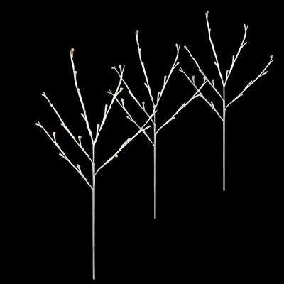 Twig Tree Warm White Pathmarkers (Set of 3)