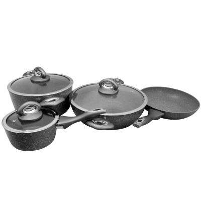 Caswell 7-Piece Grey Marble Cookware Set
