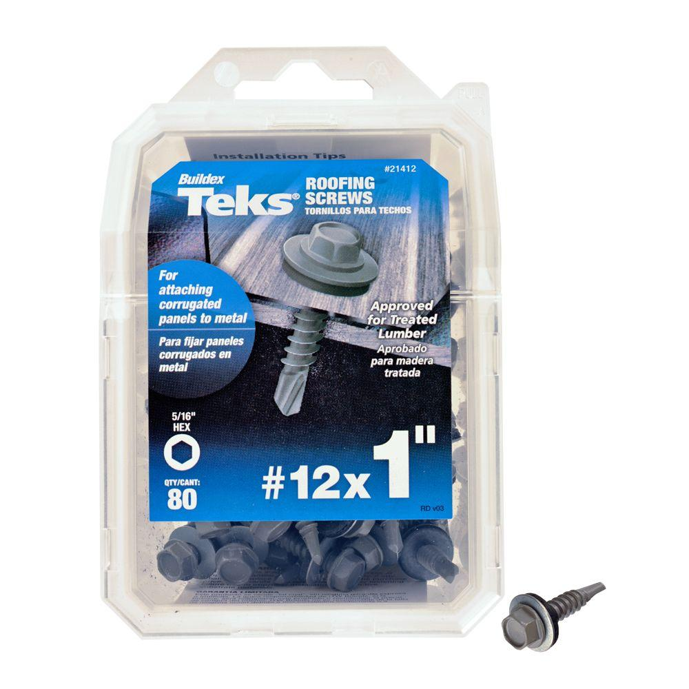 Teks 12 X 1 In Hex Washer Head Drill Point Roofing Screw
