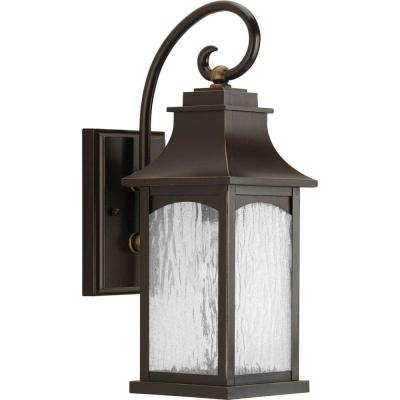 Maison Collection 1-Light 16.25 in. Outdoor Oil Rubbed Bronze Wall Lantern Sconce