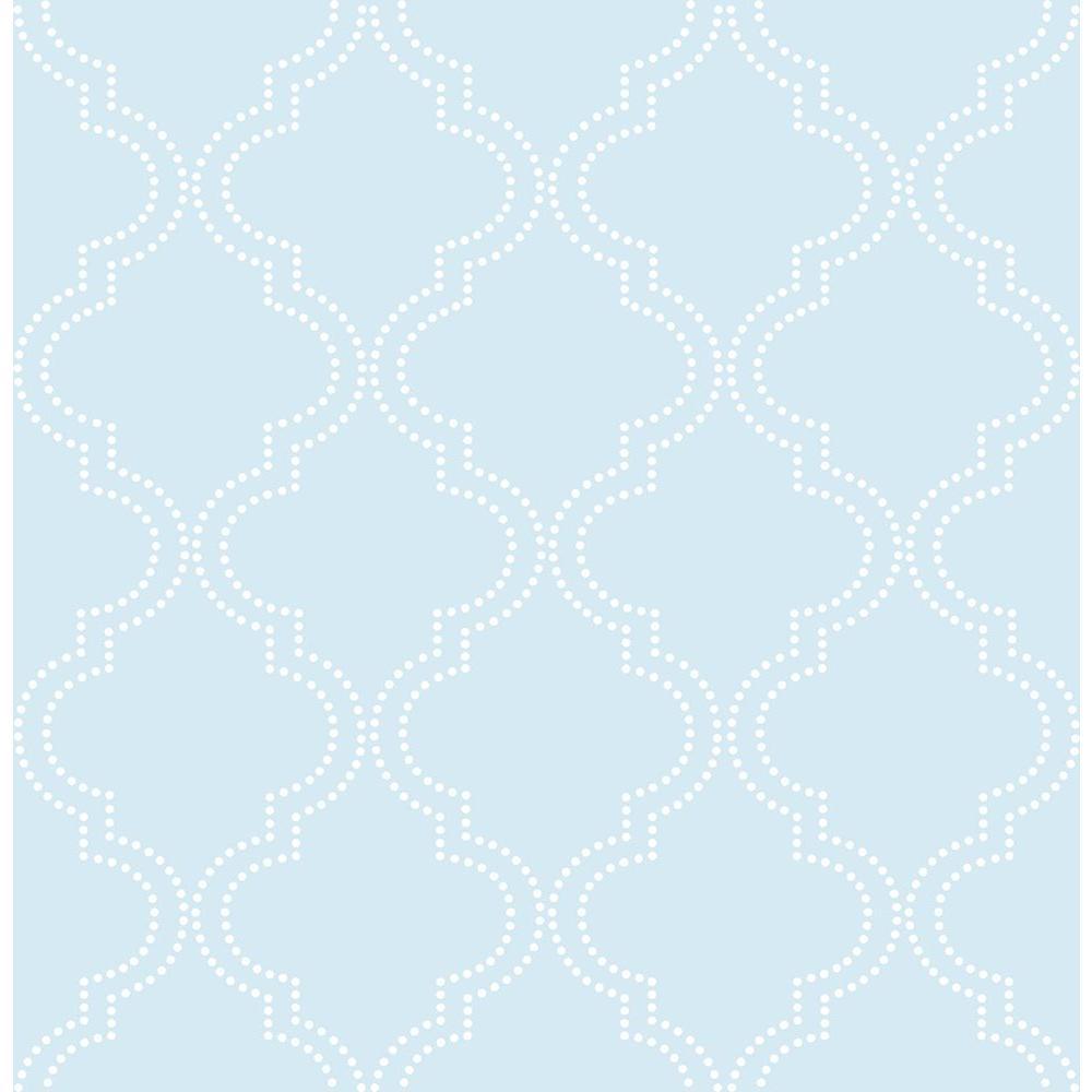 NuWallpaper Blue Quatrefoil Peel and Stick Wallpaper NU1424