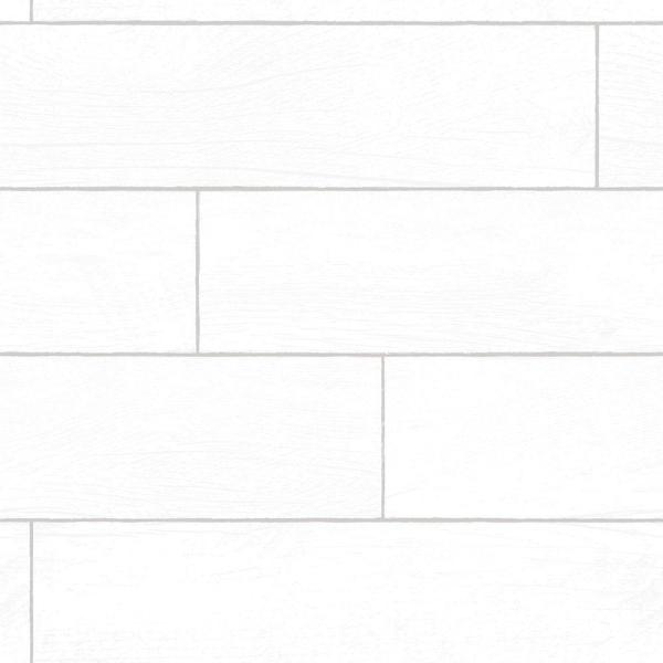 Textured Wood Planks Shiplap White Peel and Stick Wallpaper 28 sq. ft.