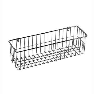 13.5 in. x 4 in. More Inside Medium 4 Sided Wall Mount Wire Basket