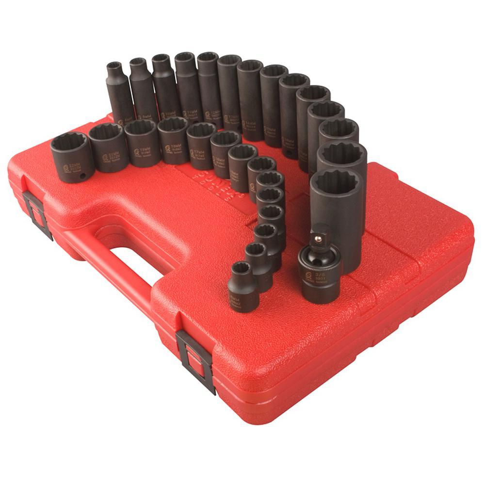 12-Point Master Metric Impact Socket Set