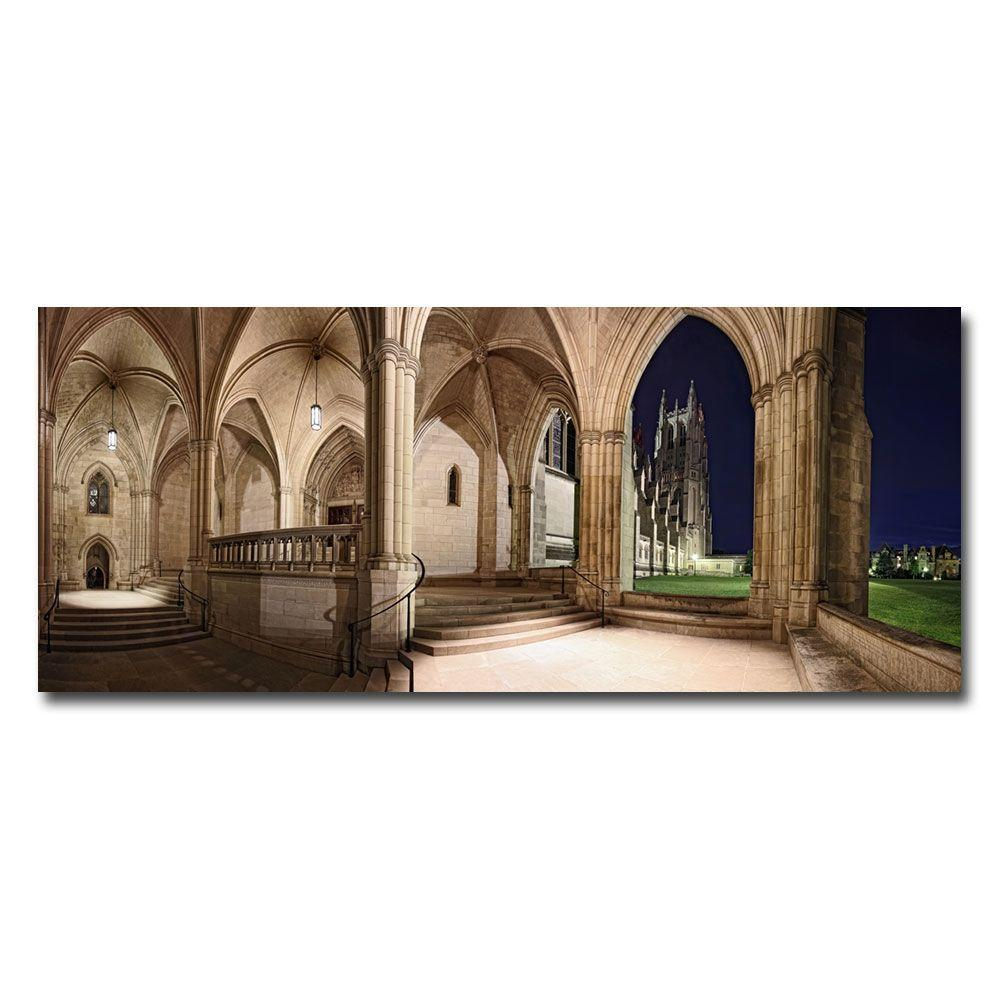 10 in. x 24 in. National Cathedral Canvas Art