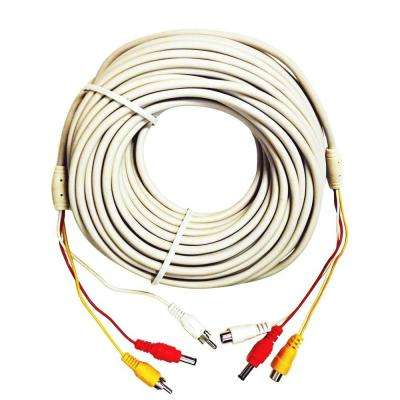 100 ft. Premade Premium Siamese Power Video and Audio Cable - White