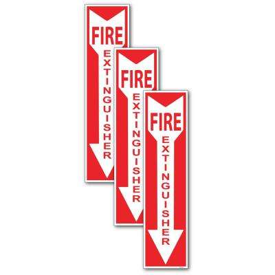 4 in. x 12 in. Fire Extinguisher Sign Stickers (3-Pack)