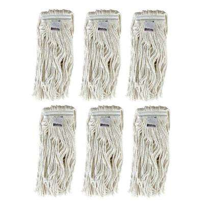 #16, 4-Ply Cotton Mop Head with Cut-Ends (6-Pack)