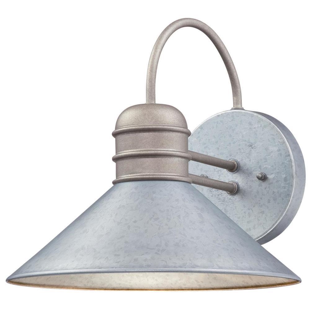 Watts Creek 1-Light Galvanized Steel Outdoor Wall Mount Lantern