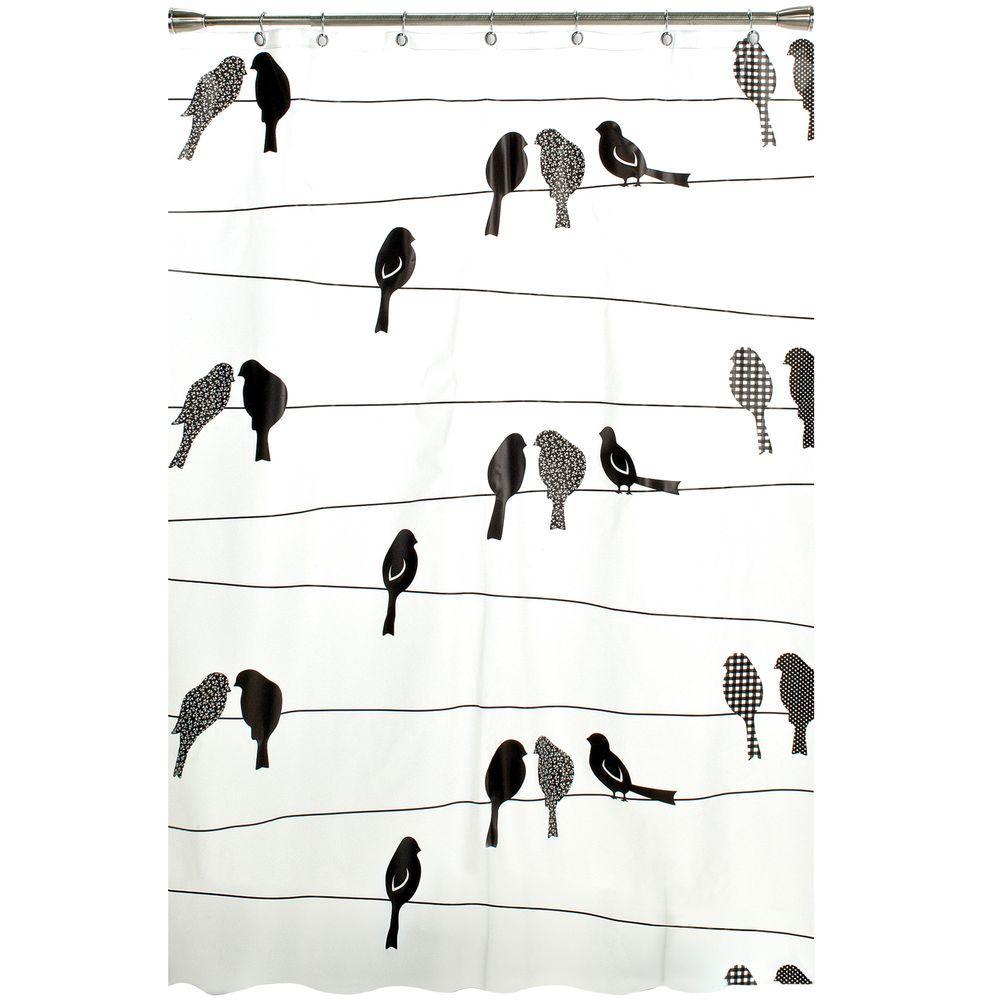Saturday Knight Birds on a Wire 70 in. W x 72 in. L Peva ...