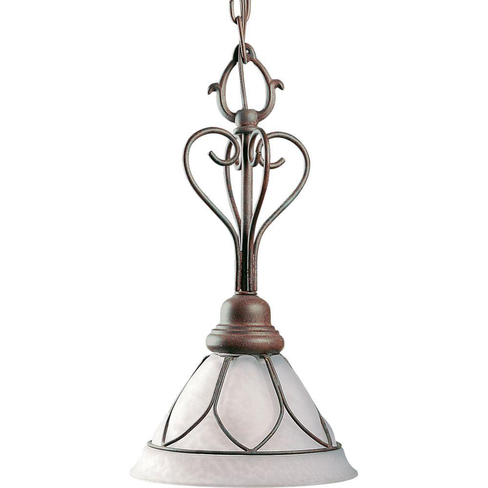 Progress Lighting Verona Collection 1-Light Cobblestone Mini-Pendant-DISCONTINUED