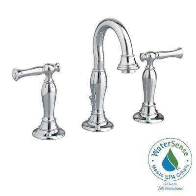 Quentin 8 in. Widespread 2-Handle High-Arc Bathroom Faucet in Polished Chrome