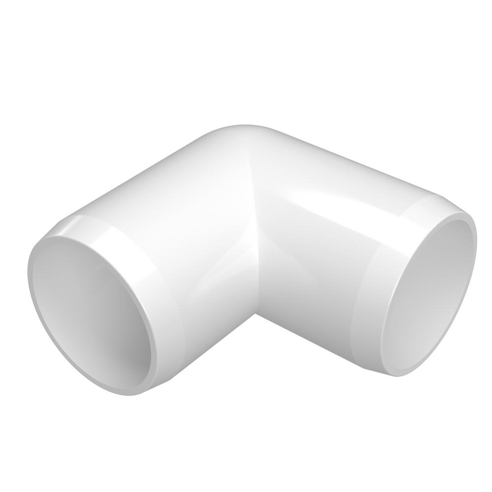 Formufit 1 in. Furniture Grade PVC 90-Degree Elbow in White (4-Pack)