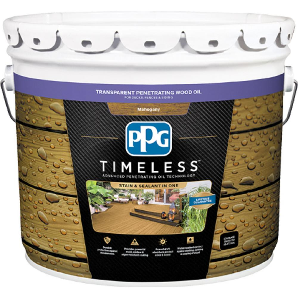 ppg timeless 3 gal tpo 10 mahogany transparent penetrating wood