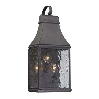 Worcester Forge Collection 3-Light Charcoal Outdoor Sconce