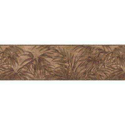 Red Wild Fern Wallpaper Border Sample