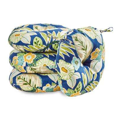 Marlow Floral 18 in. Round Outdoor Seat Cushion (4-Pack)