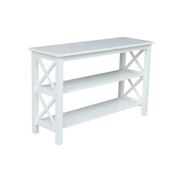 Hampton Pure White Console Table