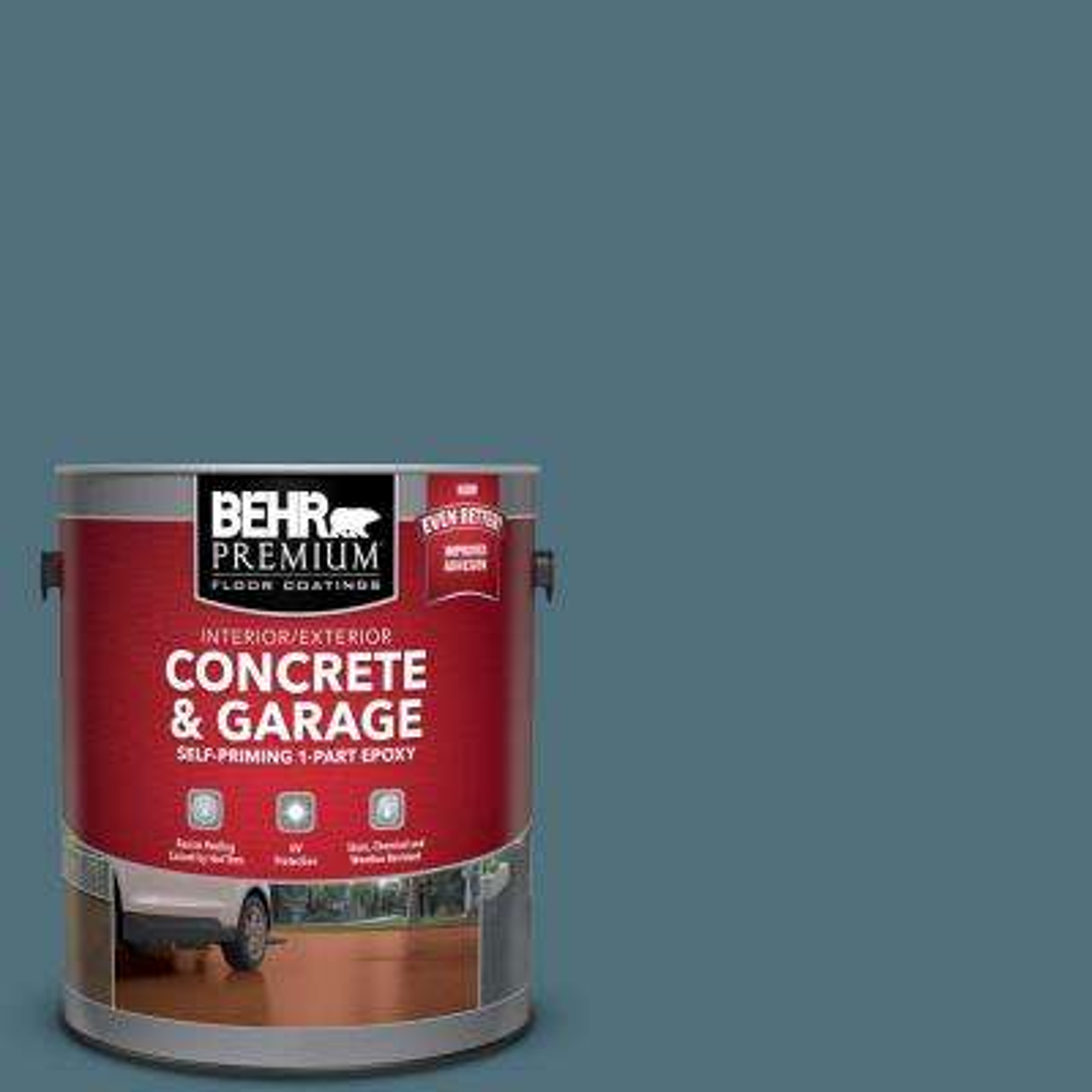 1 gal. #PFC-55 Sea Cave Self-Priming 1-Part Epoxy Satin Interior/Exterior Concrete and Garage Floor Paint