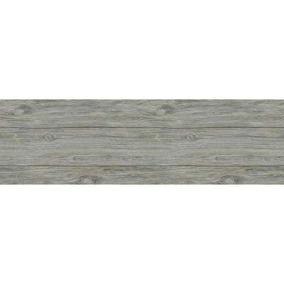 1/4 in. x 5.1 in. x 6.5 in. Slate Grey Wall Plank Sample