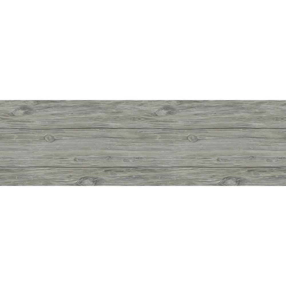 1/4 in. x 5.1 in. x 6.5 in. Slate Grey Wall Plank Sample