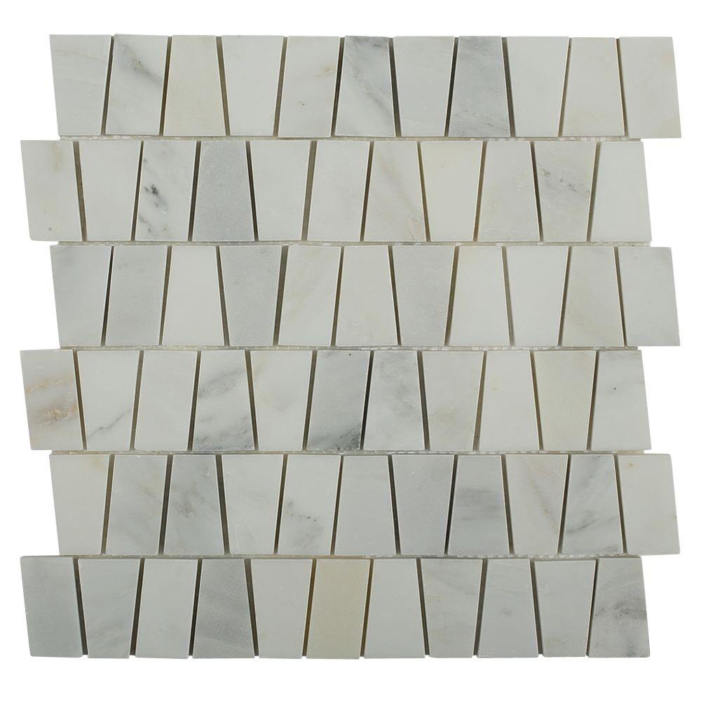 Artifact Oriental Marble Mosaic Tile - 3 in. x 6 in.