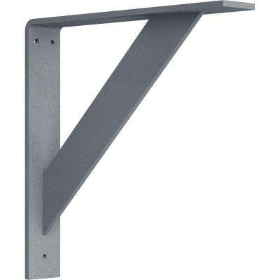 2 in. x 12 in. x 12 in. Steel Hammered Silver Traditional Bracket