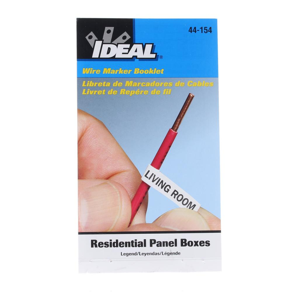 Ideal Wire Marker Booklet for Residential Panel Boxes