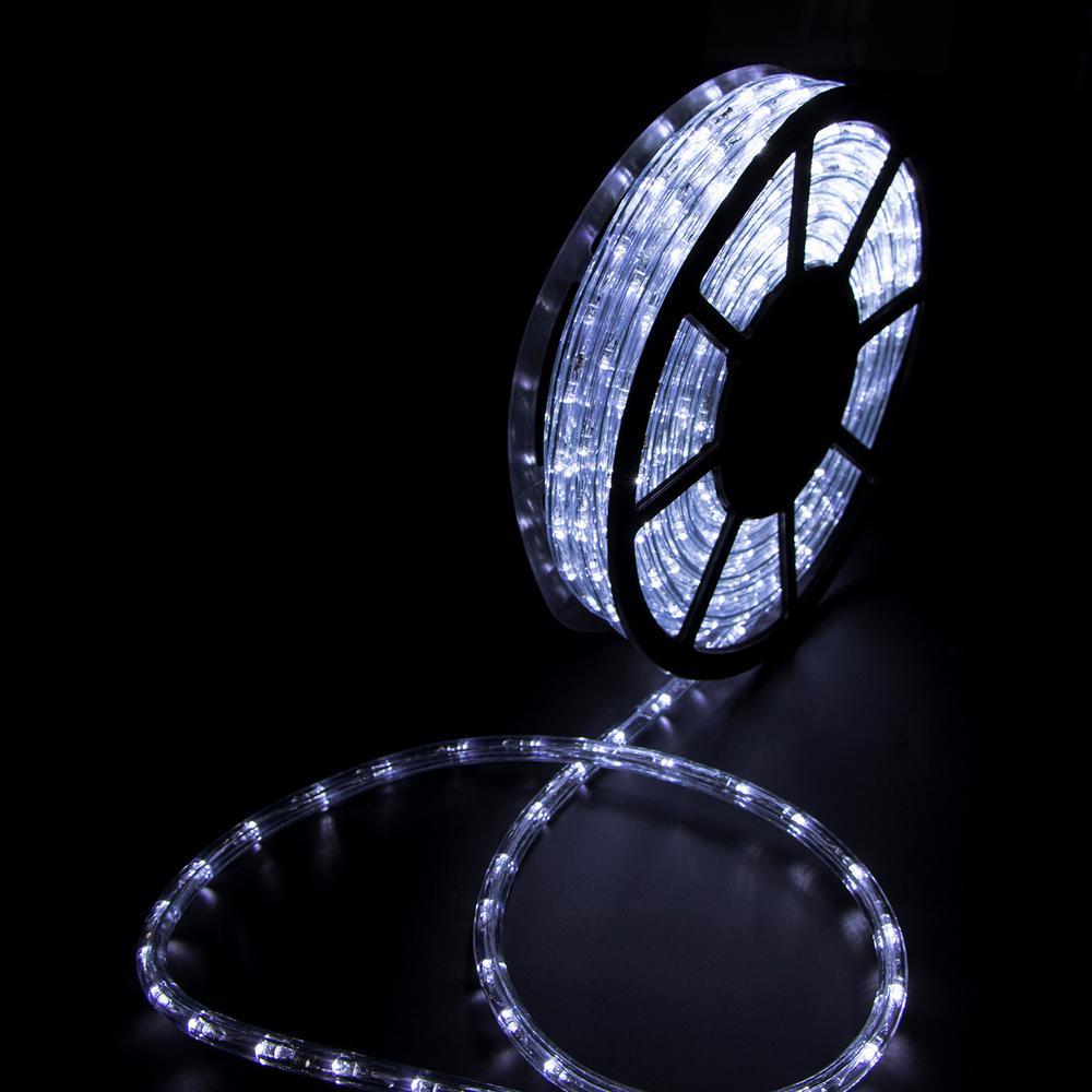 Outdoor 50 ft. 110-Volt Plug-in Cool White LED Rope Light Color Changing Lights