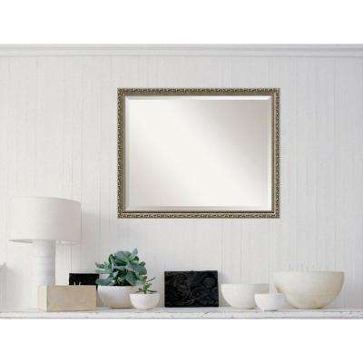Parisian Silver Wood 31 in. W x 25 in. H Traditional Framed Mirror