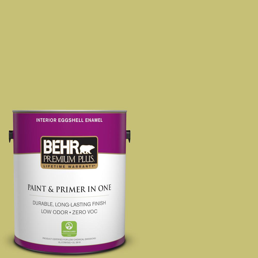 1 gal. #PPU9-07 Fresh Sprout Zero VOC Eggshell Enamel Interior Paint