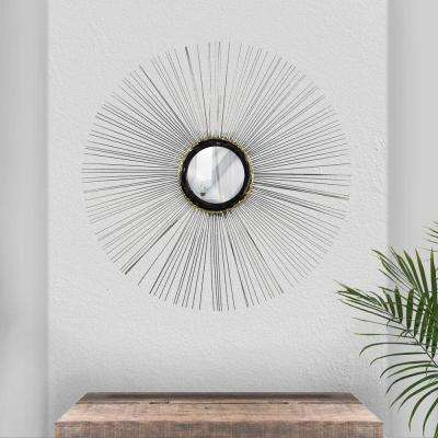 Silver Wire Sunburst Wall Mirror