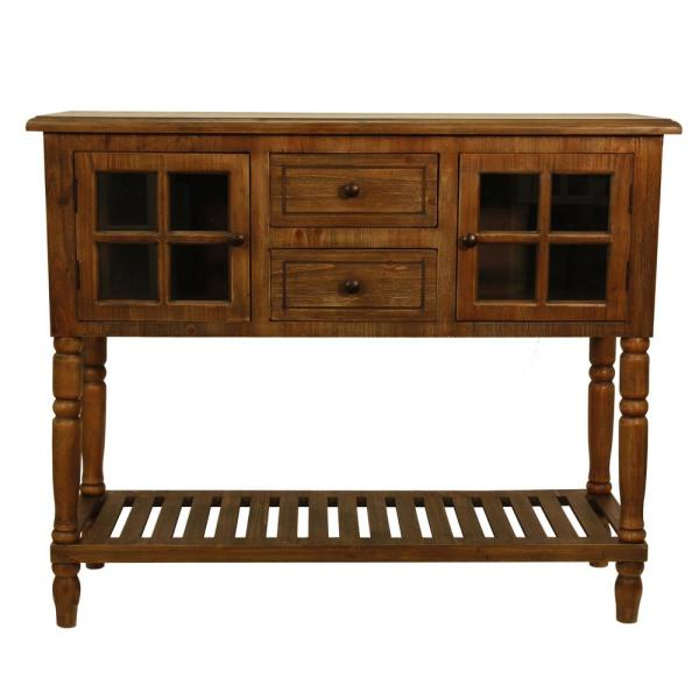 Decor Therapy Morgan Natural 2-Door Console Table FR8441