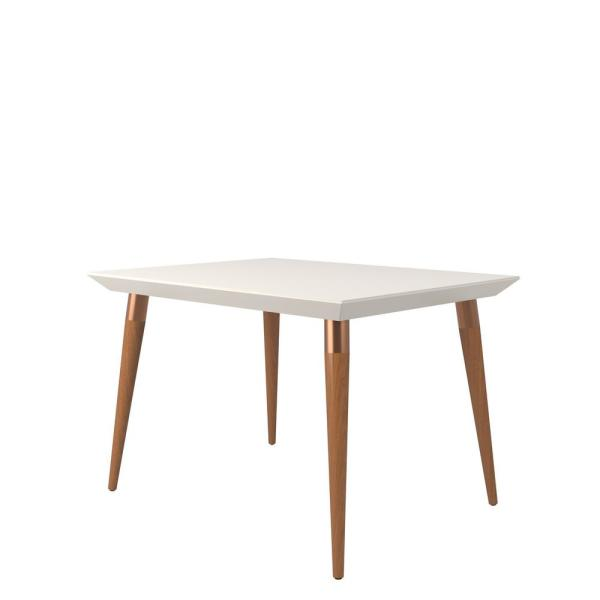 Utopia 47.24 in. Off-White Rectangle Dining Table