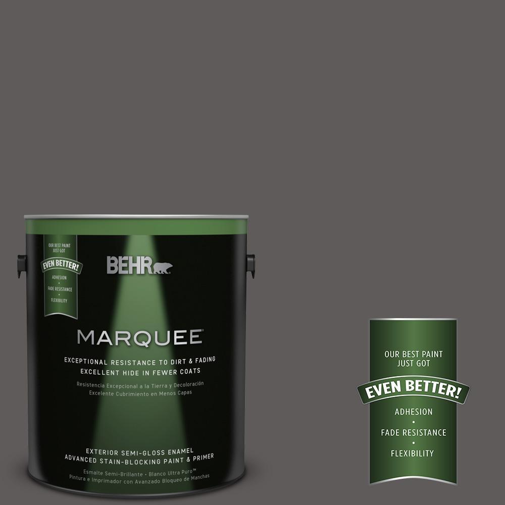 BEHR MARQUEE 1-gal. #PPU18-19 Intellectual Semi-Gloss Enamel Exterior Paint