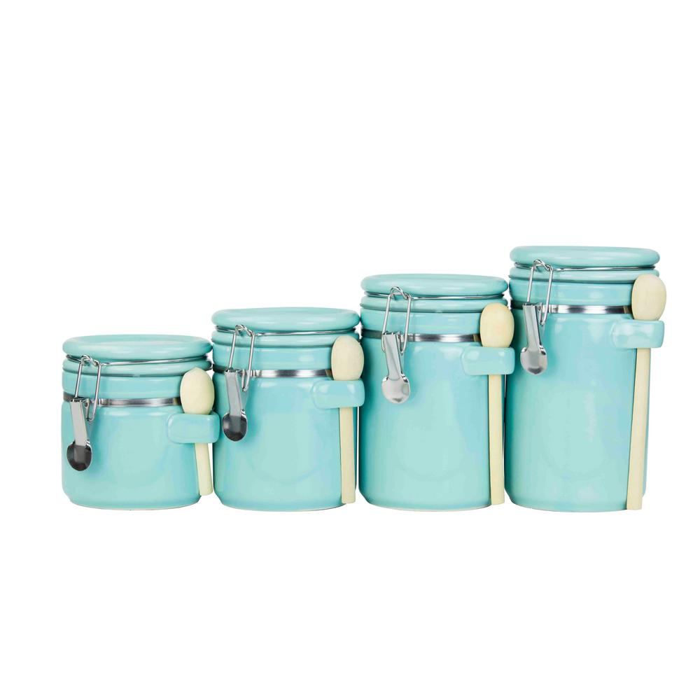 canister sets home basics 4 piece ceramic canister set cs47190 the
