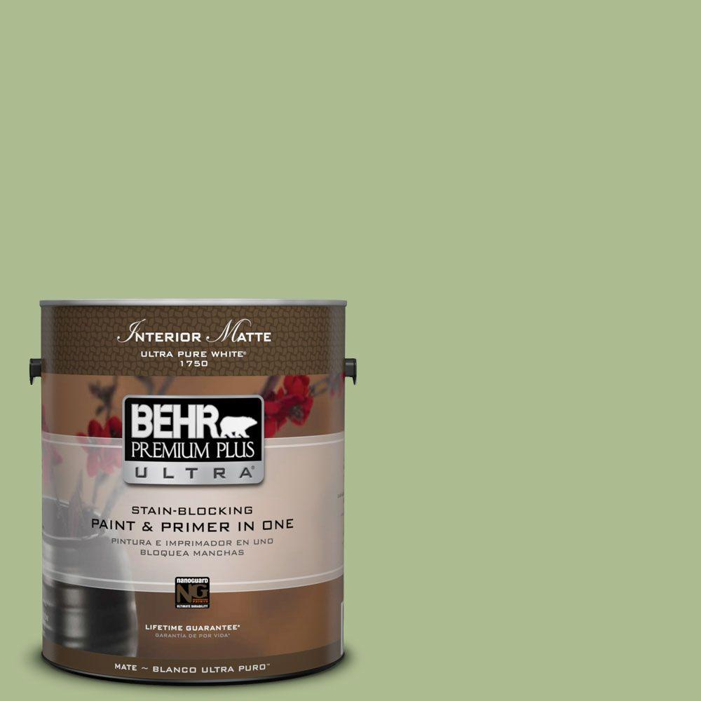 BEHR Premium Plus Ultra 1 gal. #M370-4 Chervil Leaves Matte Interior Paint