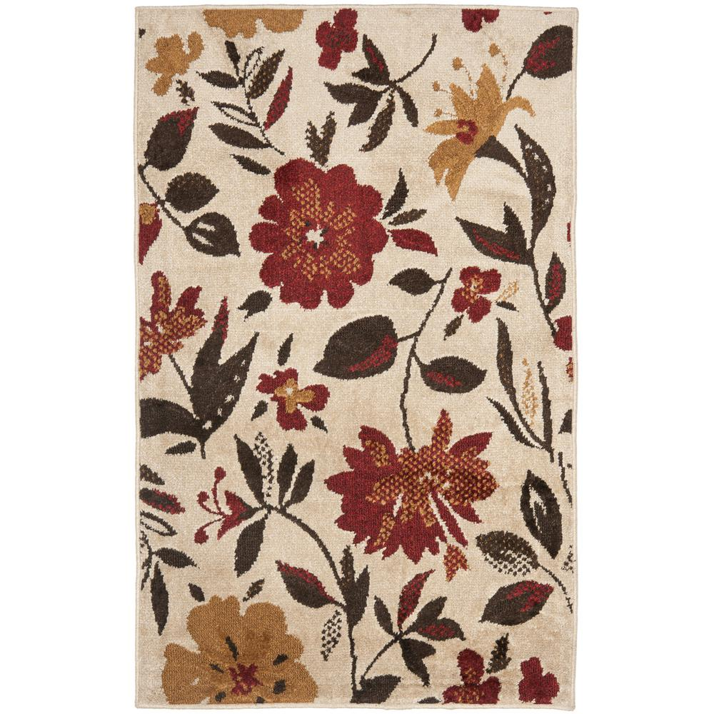 Kashmir Ivory/Red 3 ft. x 5 ft. Area Rug