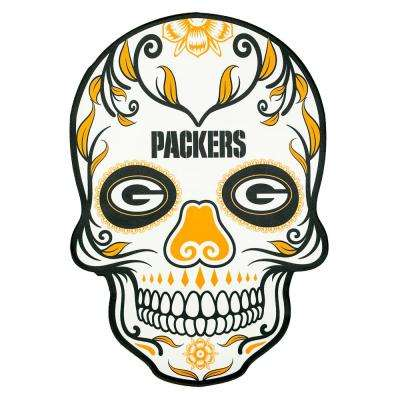 NFL Green Bay Packers Outdoor Skull Graphic- Small