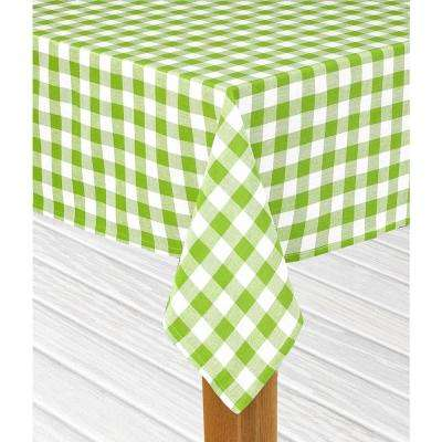 Buffalo Check 52 in. x 70 in. Green 100% Cotton Table Cloth for Any Table