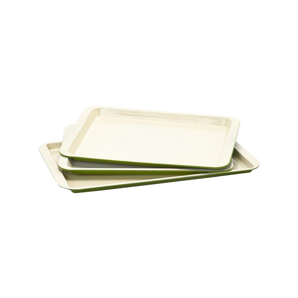 Cookie Sheet 3-Piece Set in Green